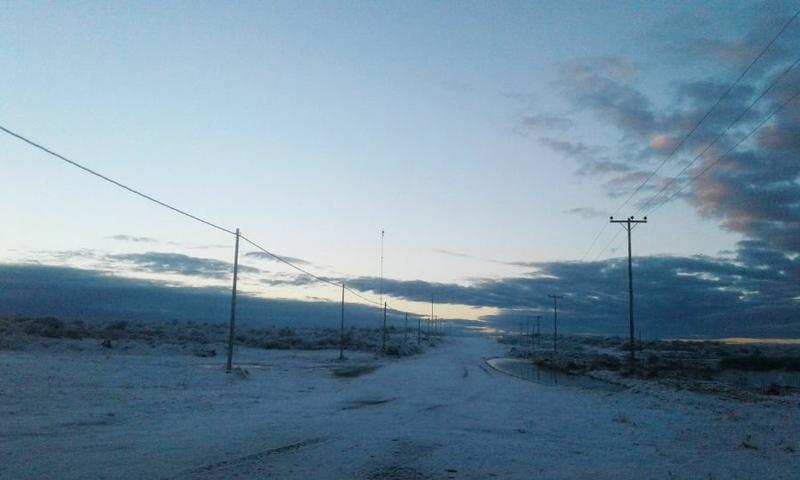 La primera nevada del año en La Humada