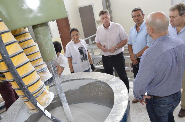 Ziliotto, en la fábrica de pinturas PampaCryl