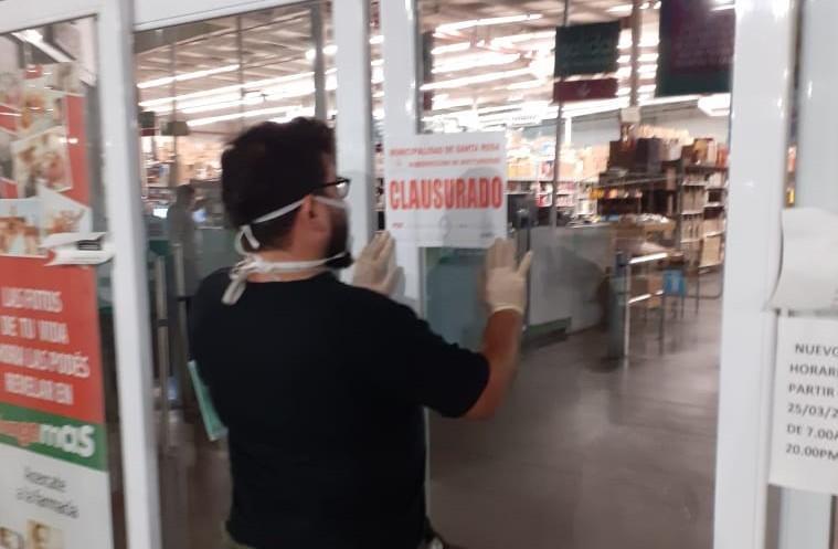La intendencia de Santa Rosa clausuró un supermercado de Changomás