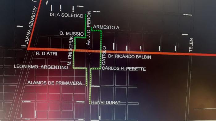 Corte en la avenida Perón por cuatro días