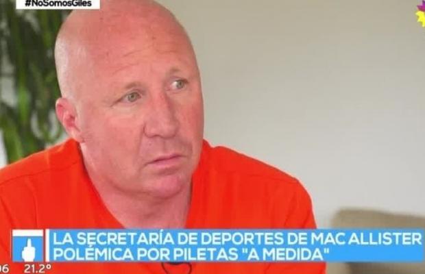 "PPT denunció a Mac Allister por unas ""piletas a medida"""